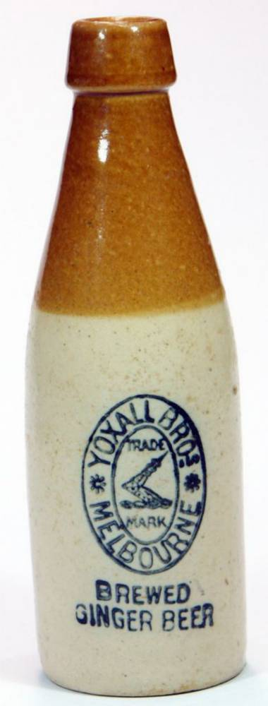 Yoxall Brothers Melbourne Antique Ginger Beer Bottle