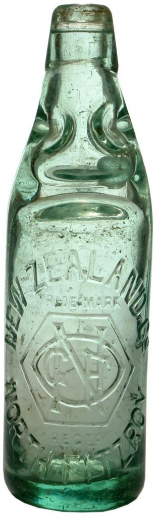 New Zealand Company North Fitzroy Codd Marble Bottle