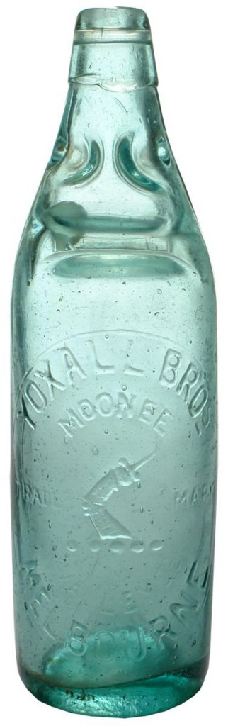 Yoxall Brothers Moonee Valley Melbourne 26 ounce Codd Bottle