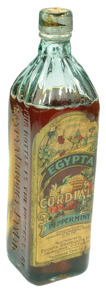 Egypta Cordials Labelled Cordial Bottle